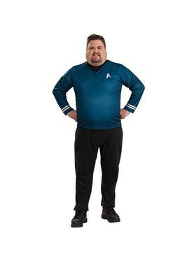 Mens Plus Size Star Trek Deluxe Shirt Co