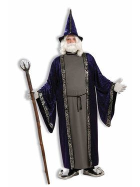 Men's Plus Size Wizard Costume