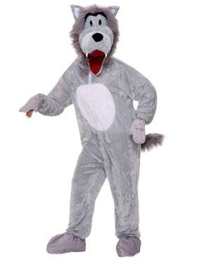 Plush Story Book Wolf Adult Costume