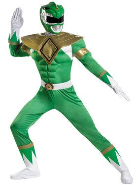 Men's Green Power Ranger Costume
