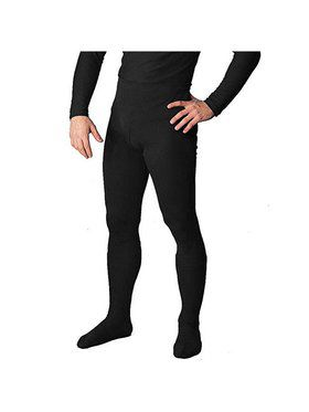 Men's Professional Tights With Feet Black - Large