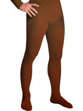 Men's Professional Tights With Feet Brown - Large