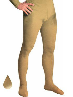 Men's Professional Tights With Feet Gold - Large