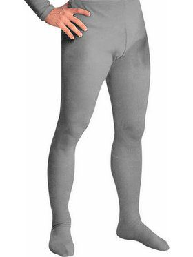 Men's Professional Tights With Feet Grey - Large