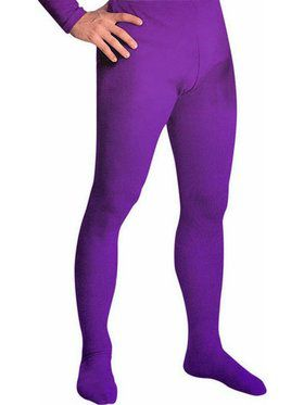 Men's Professional Tights With Feet Purple - Large