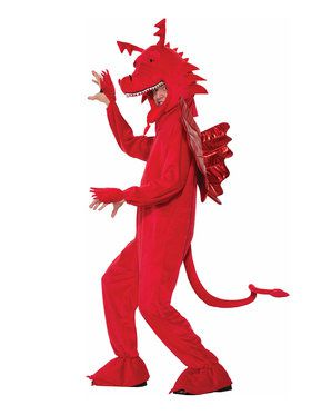 Men's Red Dragon Costume