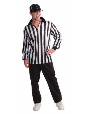 Mens Referee Shirt And Hat
