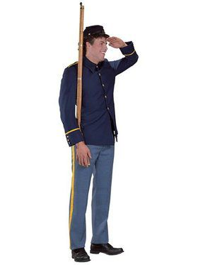 Men's Civil War Reenactment Union Soldier Costume