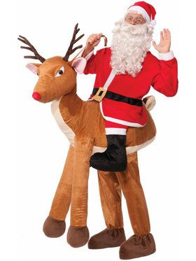 Mens Santa Ride-a-reindeer Costume