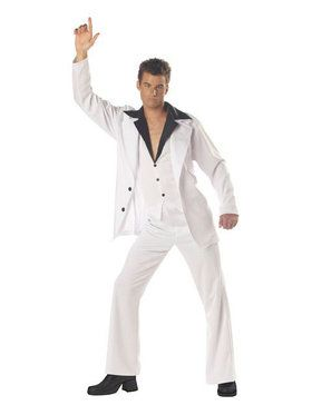 Mens Saturday Night Fever Disco Costume