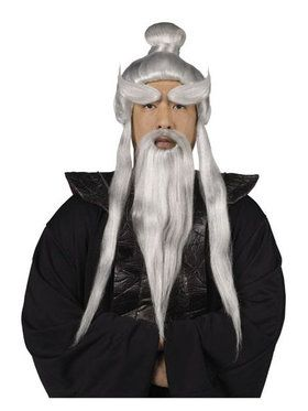 Mens Sensei Wig And Beard