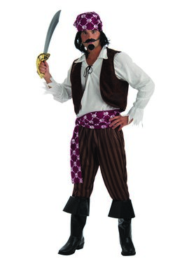 Shipwrecked Pirate Costume for Men