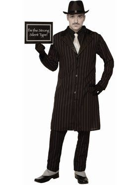 Silent Movie Gangster Mens Costume