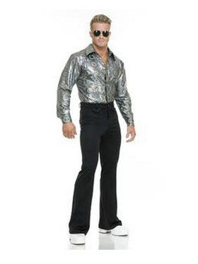 Mens Silver Disco Shirt