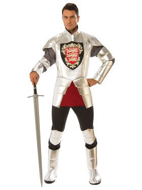 Silver Knight Mens Costume