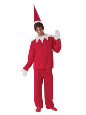 Mens Sitting Elf Costume