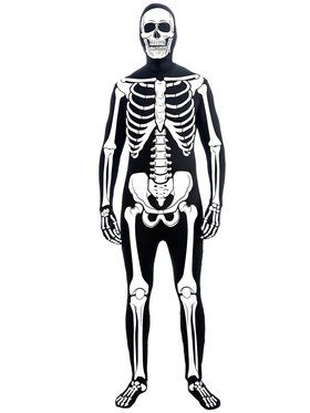 Mens Skeleton Man Skin Suit Adult Costum