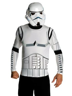 Stormtrooper Men's Top and 2018 Halloween Masks Set