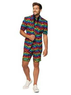 Opposuits Men's Summer Wild Rainbow Pride Suit