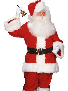Mens Super Deluxe Velvet Santa Suit