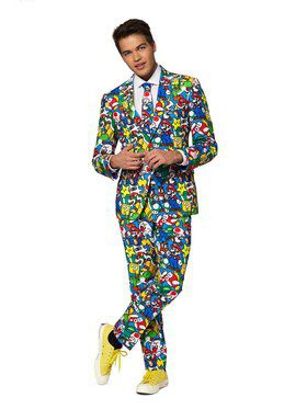 Opposuits Men's Super Mario Licensed Suit