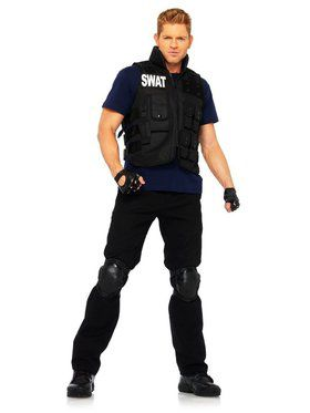 Mens Swat Commander Costume