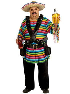 Mens Tequila Sunrise Adult Costume