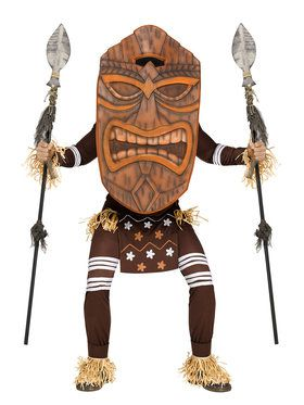 Men's Tiki Warrior Costume