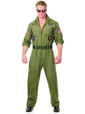Mens Top Gun Flight Suit Costume