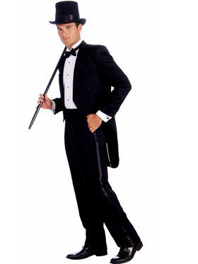 Mens Vintage Hollywood Tuxedo Adult Cost