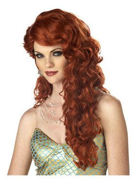 Adult Auburn Mermaid Wig