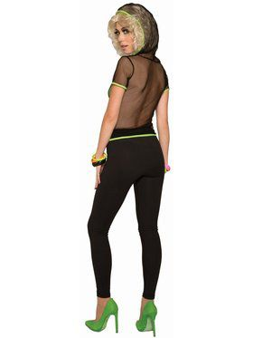 Mesh Top Black / Green Adult Costume
