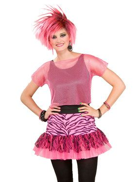 Mesh Top - Neon Pink Adult Costume
