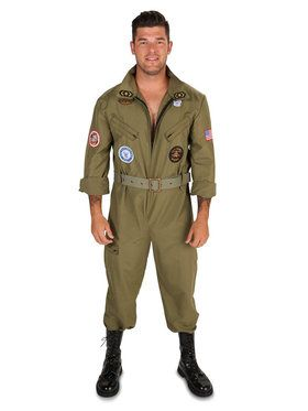 Military Fighter Pilot Jumpsuit Adult Costume