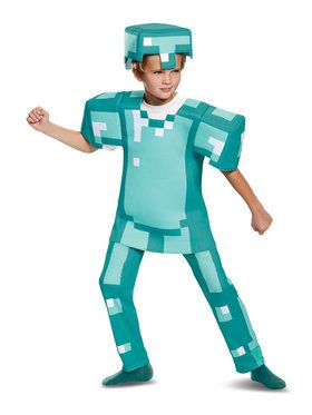 Minecraft Armor Child Deluxe Costume