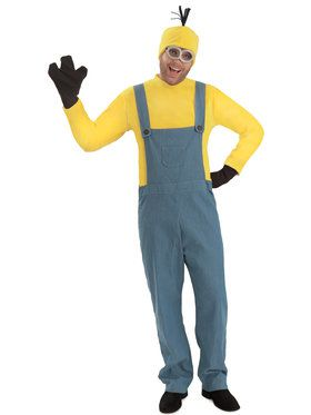 minions kevin jumpsuit mens costume smallmedium