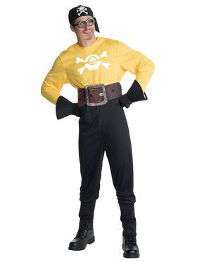 Minions Movie: Adult Pirate Minion Costume