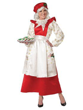 Mrs. Claus Pinafore Dress with Apron Ladies Costume
