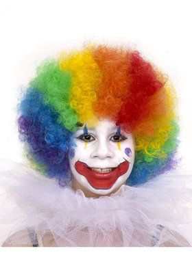 Clown Multi-Colored Costume Wig for Kids
