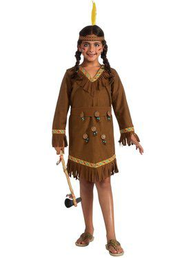 Girls Native American Girl Costume