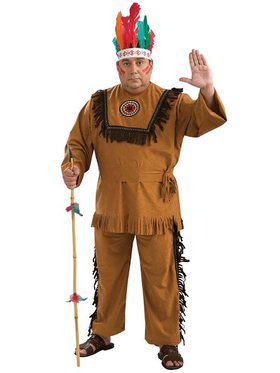 Native American Indian Warrior Adult Plu  sc 1 st  BuyCostumes.com & Western Cowboy and Indian Costumes - Halloween Costumes ...