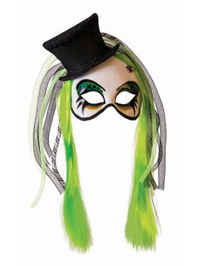 Neon Clown Mask with Hat And Hair