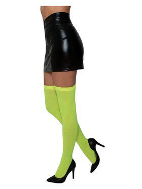 Neon Yellow Thigh Highs