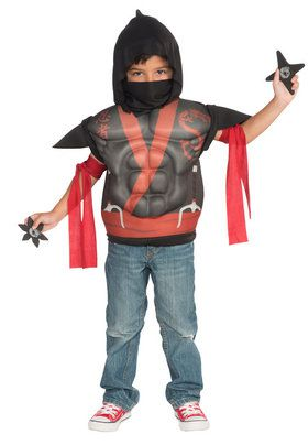 Child's Ninja Muscle Chest Shirt Set