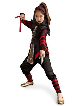 Girl's Ninja Dragon Costume