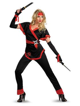 Adult Womens Ninja Dragon Costume