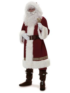 Old Time Santa With Hood Costume
