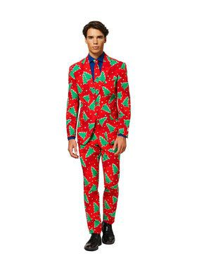 OppoSuits Fine Pine Men's Suit and Tie Set