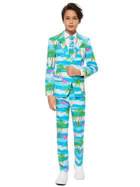 OppoSuits Flaminguy Teen Boy's Suit and Tie Set