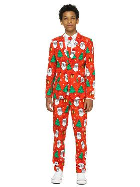 OppoSuits Holiday Hero Teen Boy's Suit and Tie Set